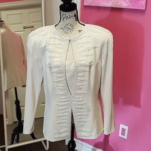 Daymore💕💕 Couture Cream Embroidery Blouse Top